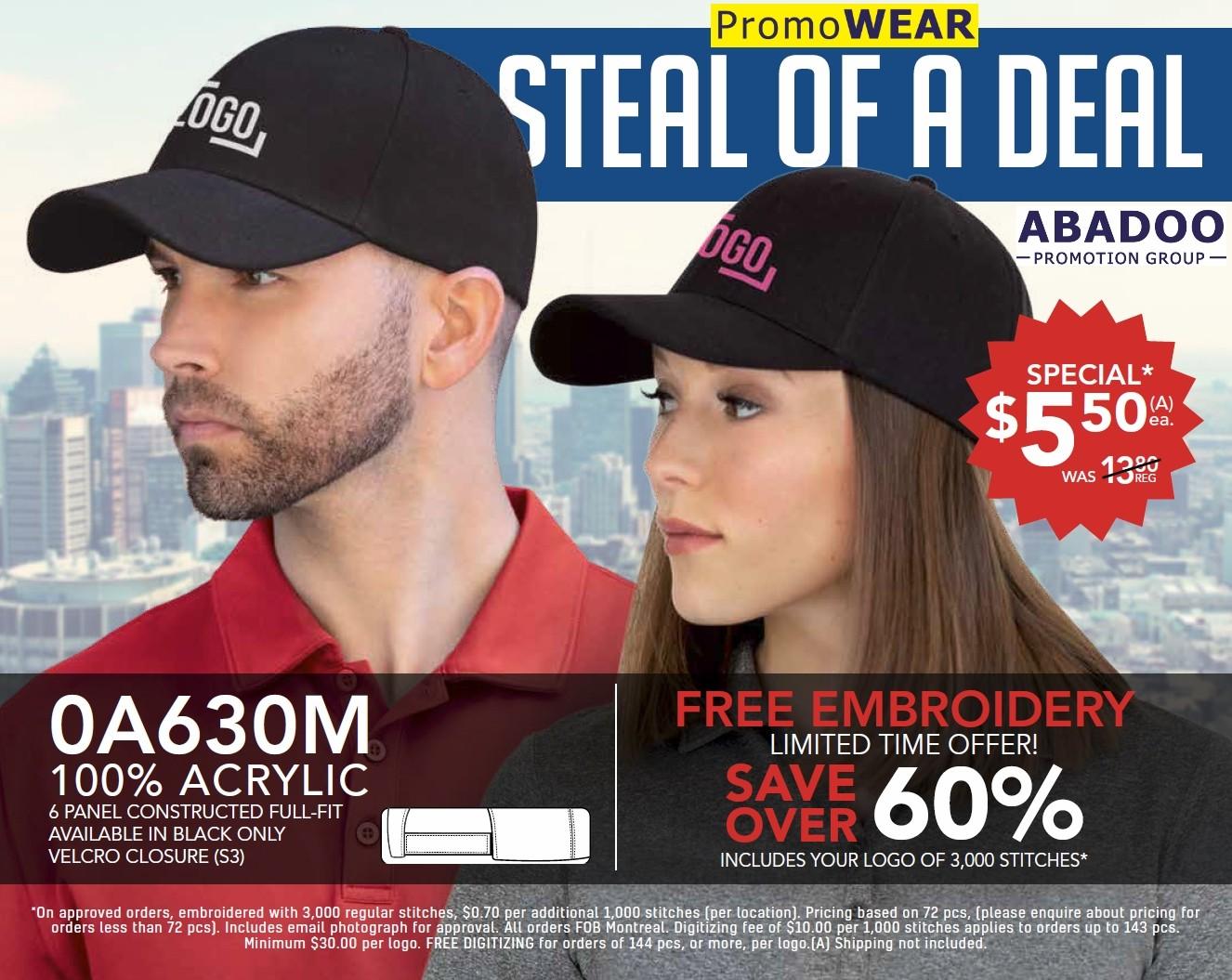 PromoWEAR ABADOO hat special promo