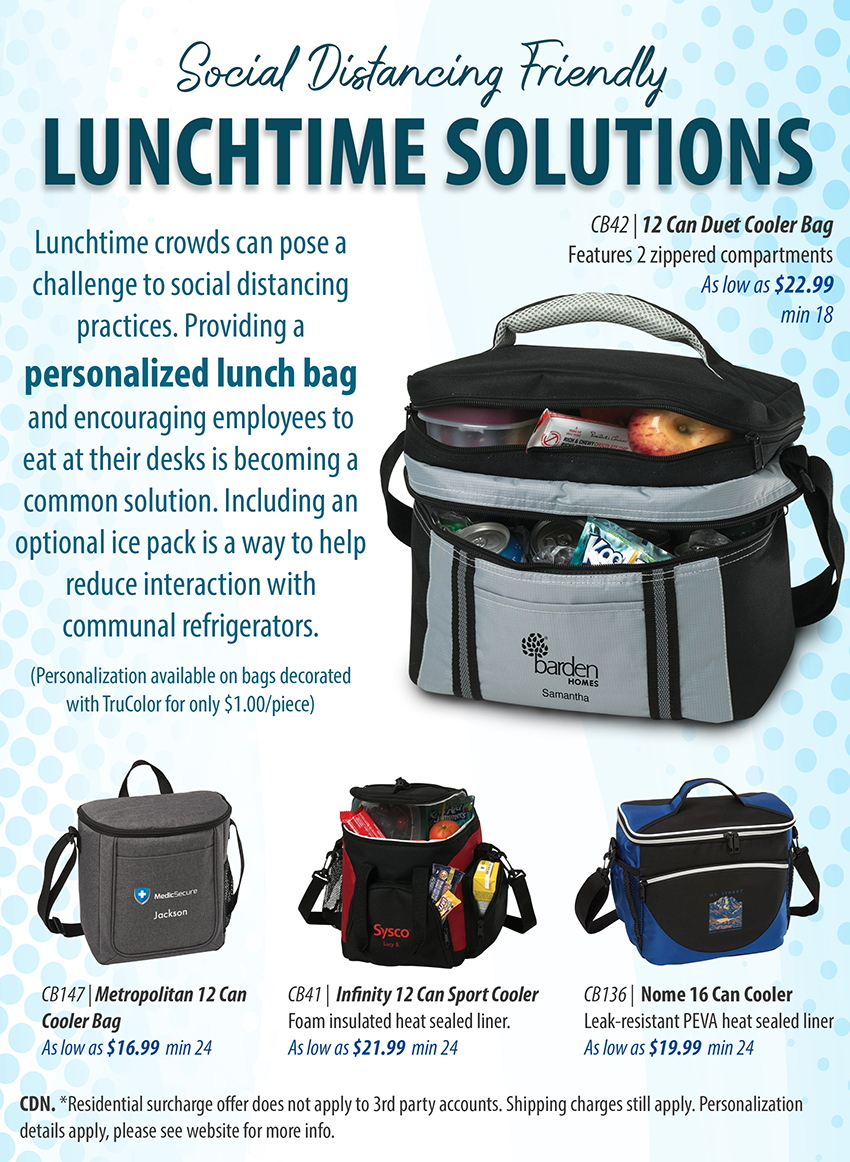 back to work lunch bags promotional product