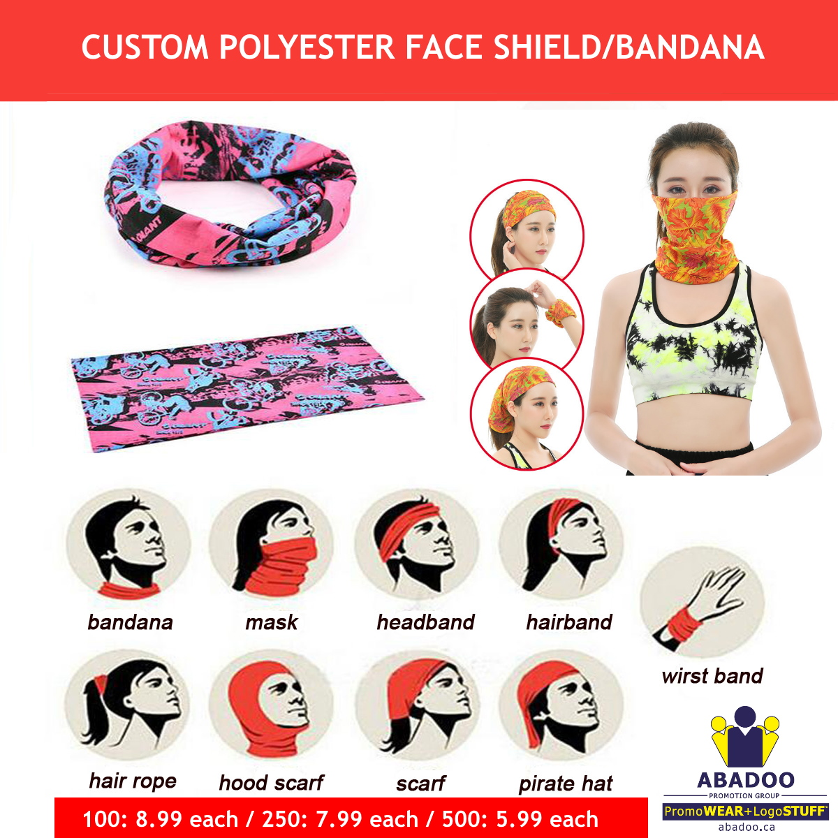 Face shield Custom Promotional Product ABADOO