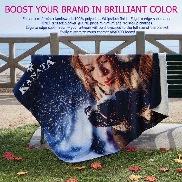 Custom LogoSTUFF Blanket ABADOO