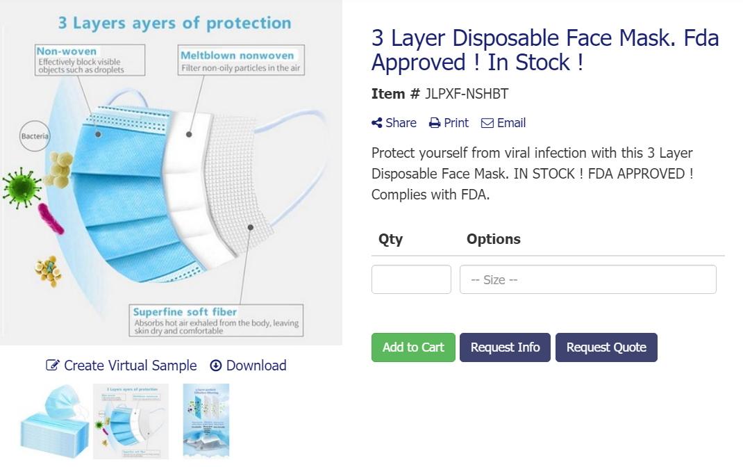 Disposable FDA mask from ABADOO Regina