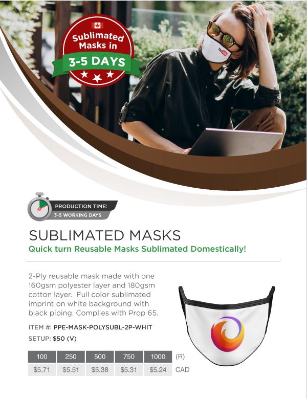 PPE face mask Canada ABADOO