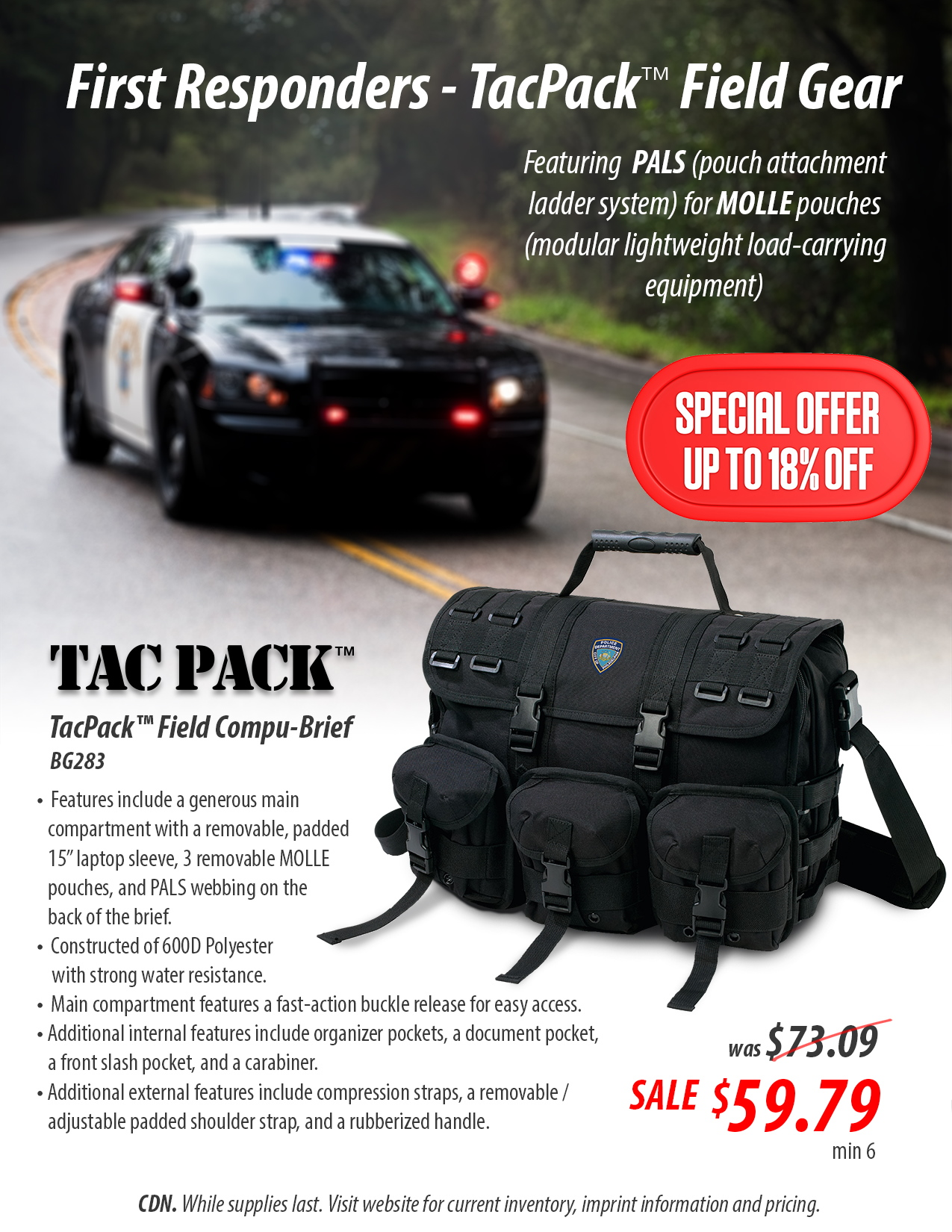First responders tacpack