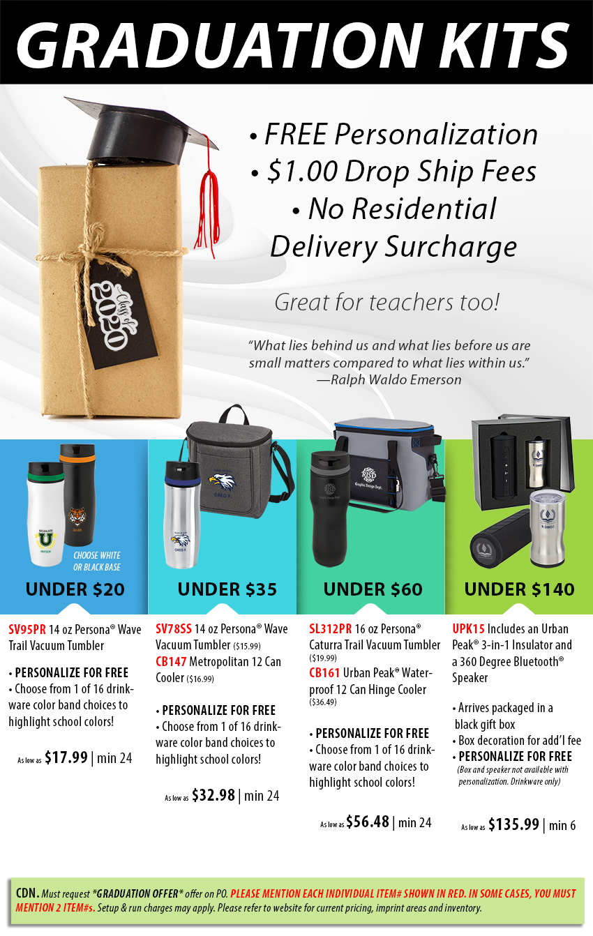 Grad kit promotional product