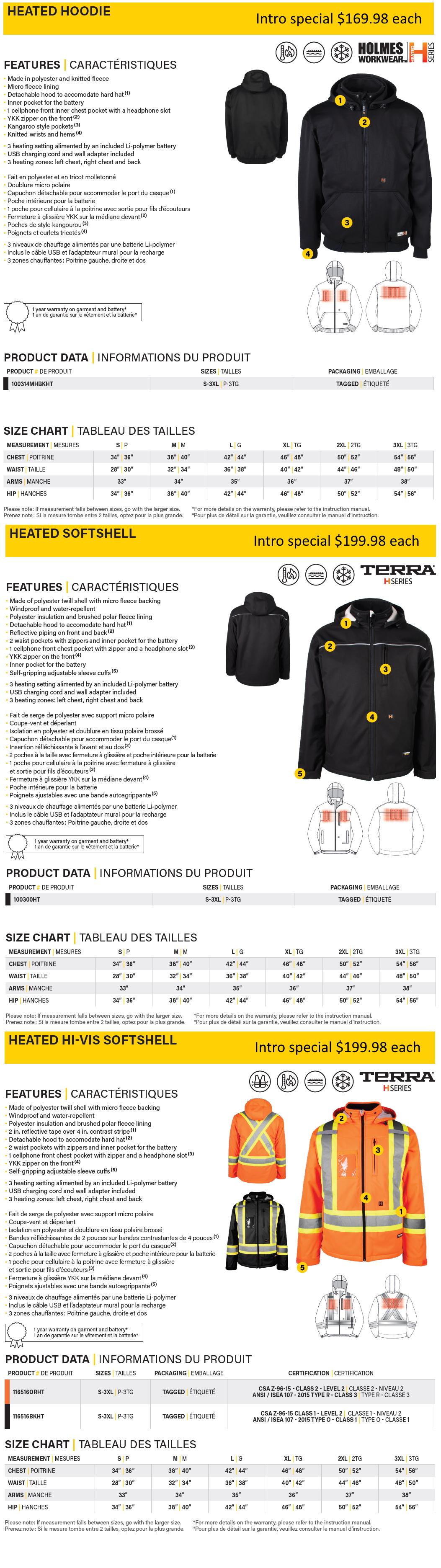 Heated Jacket from ABADOO Promo Regina Promo products