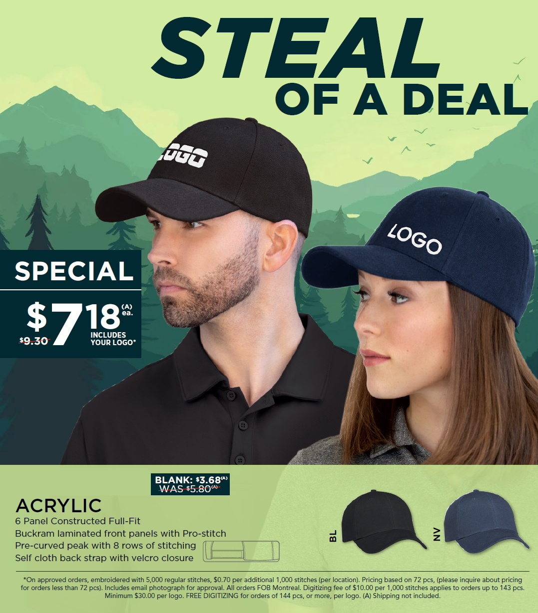Hat special with logo from ABADOO Promotion Group