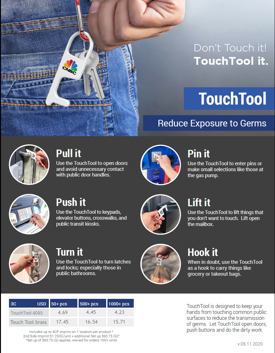 PPE touch tool logostuff promotional product